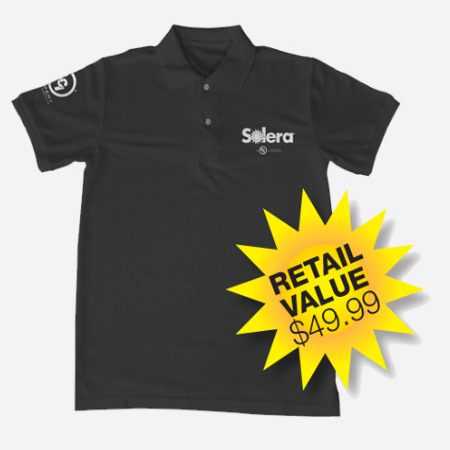 Sport-Tek polo shirt with Solera and LCI logo