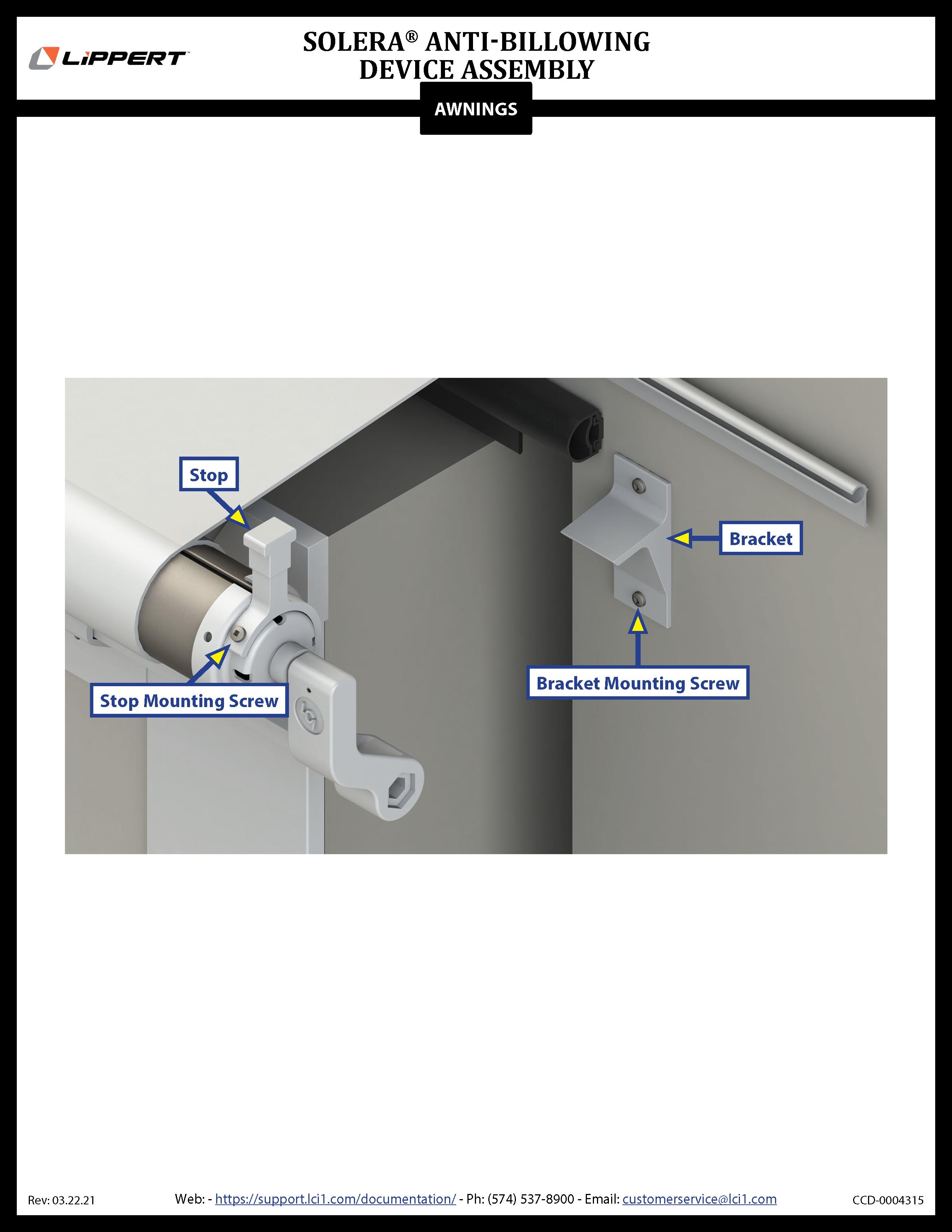 Solera® Anti-Billowing Device Assembly