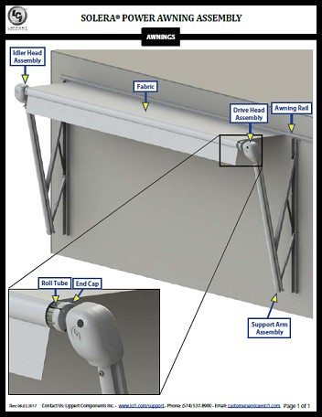Solera® Power Awning Assembly