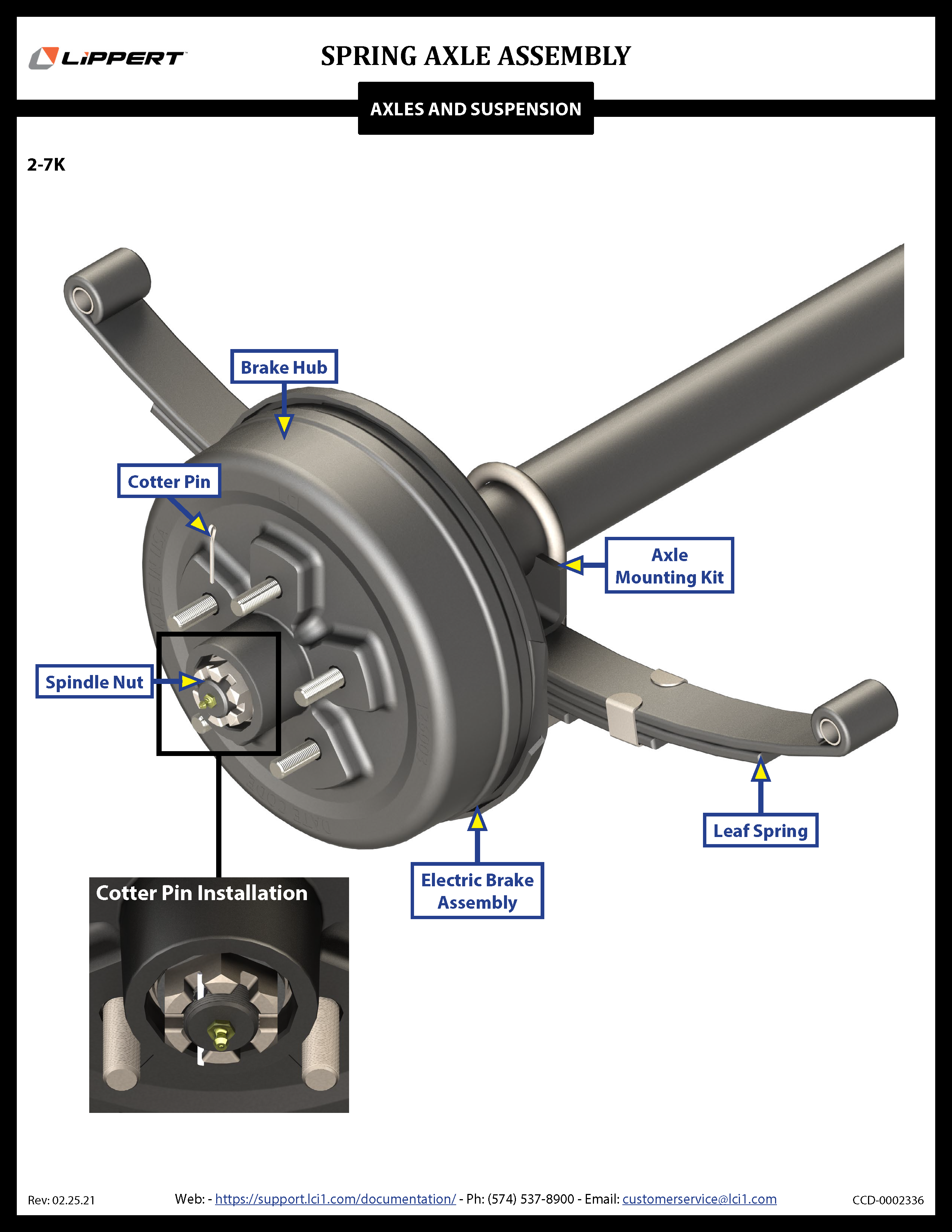 Spring Axle Assembly