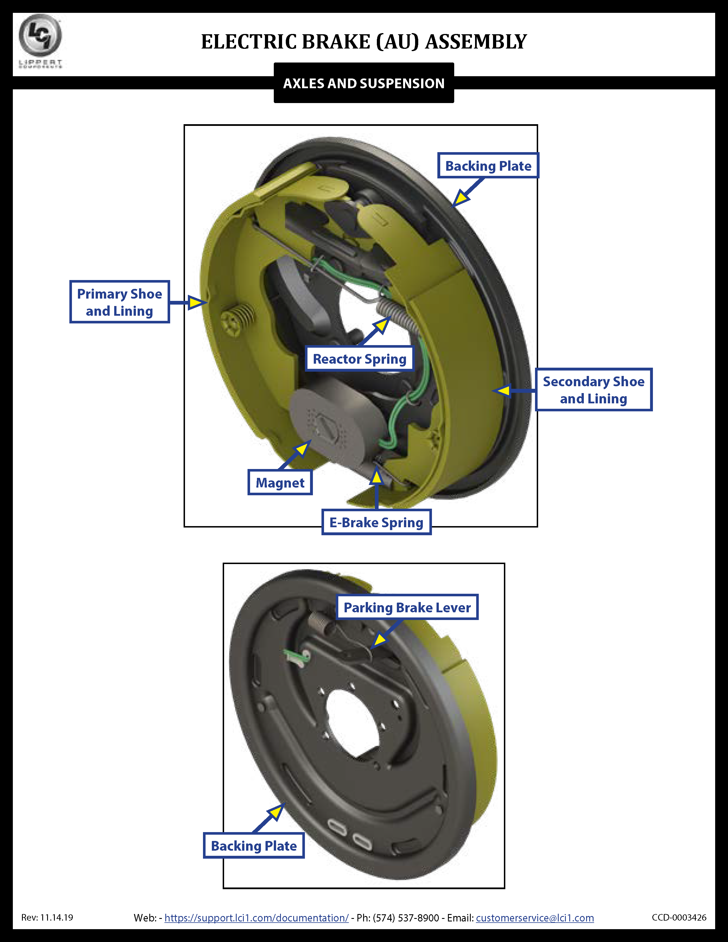 Electric Brakes (AU) Assembly