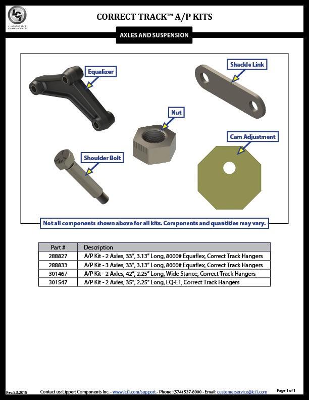 Correct Track™ A/P Kits