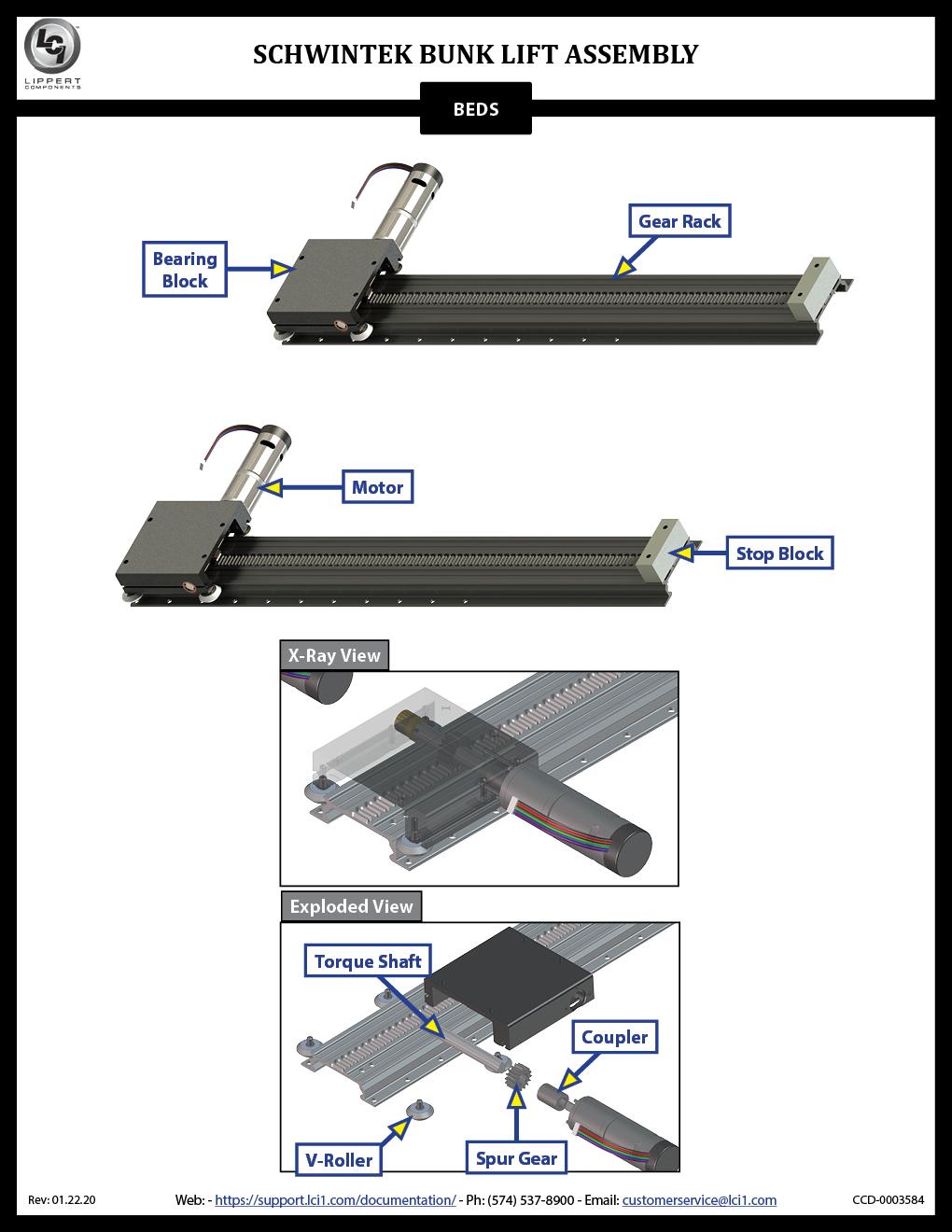 Schwintek Bunk Lift Assembly