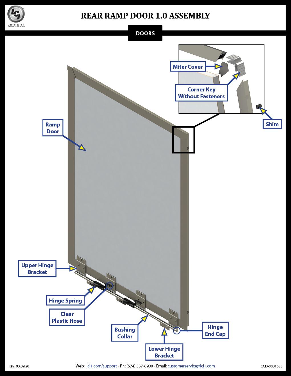 Rear Ramp Door 1.0 Assembly