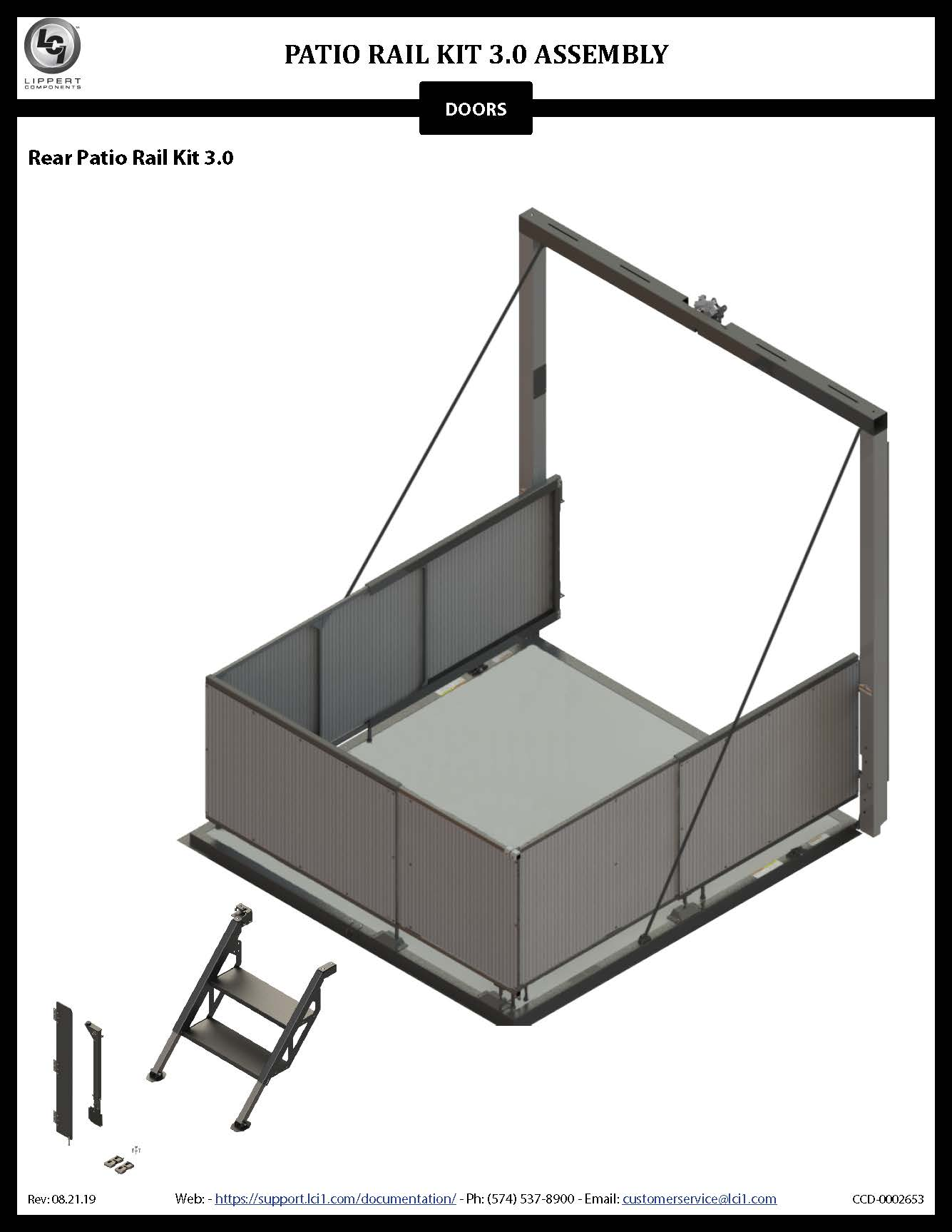 Patio Rail Kit 3.0 Assembly