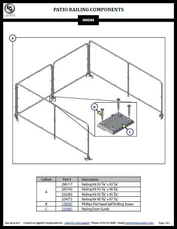 Patio Rail Kit Components