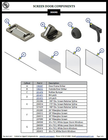Screen Door Components