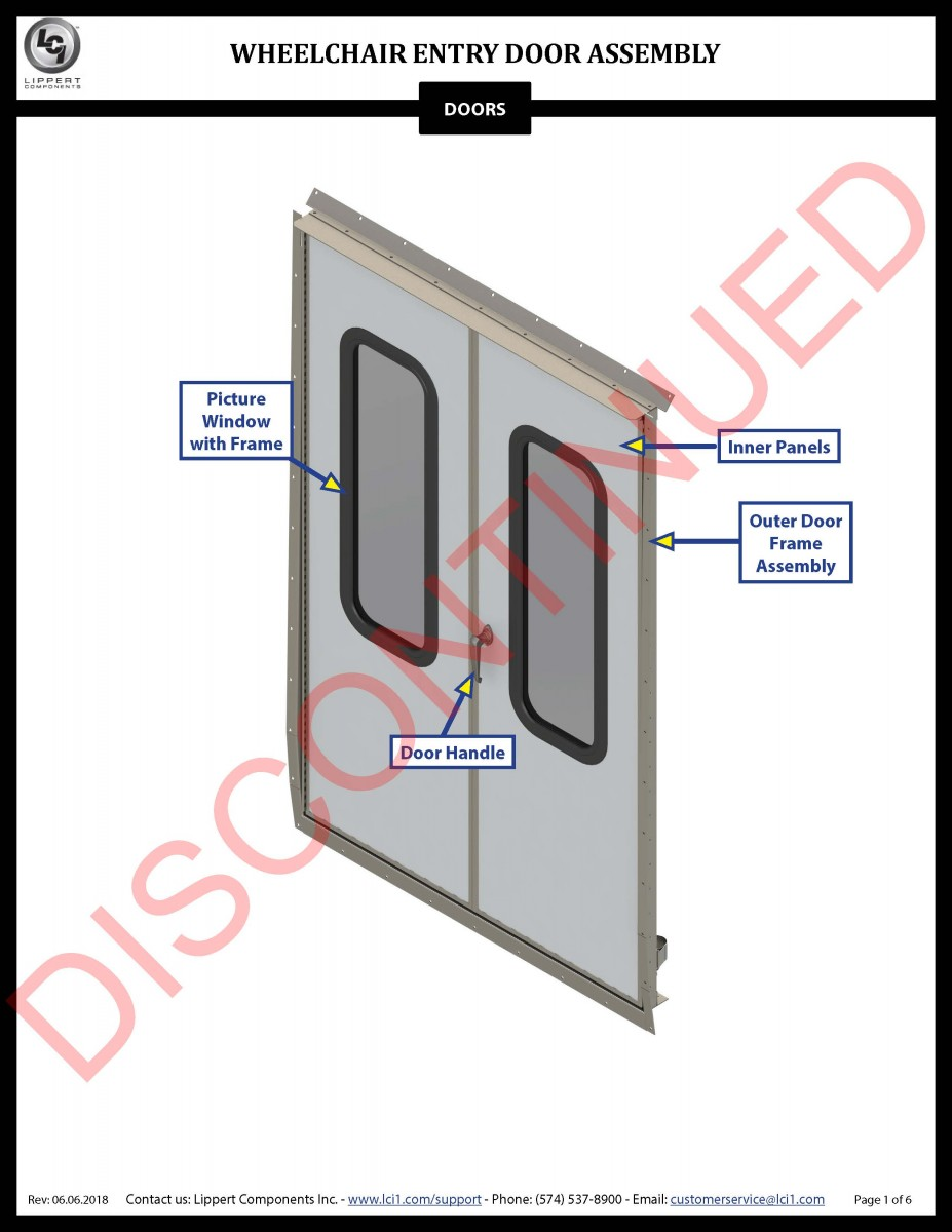 Wheelchair Entry Door Assembly