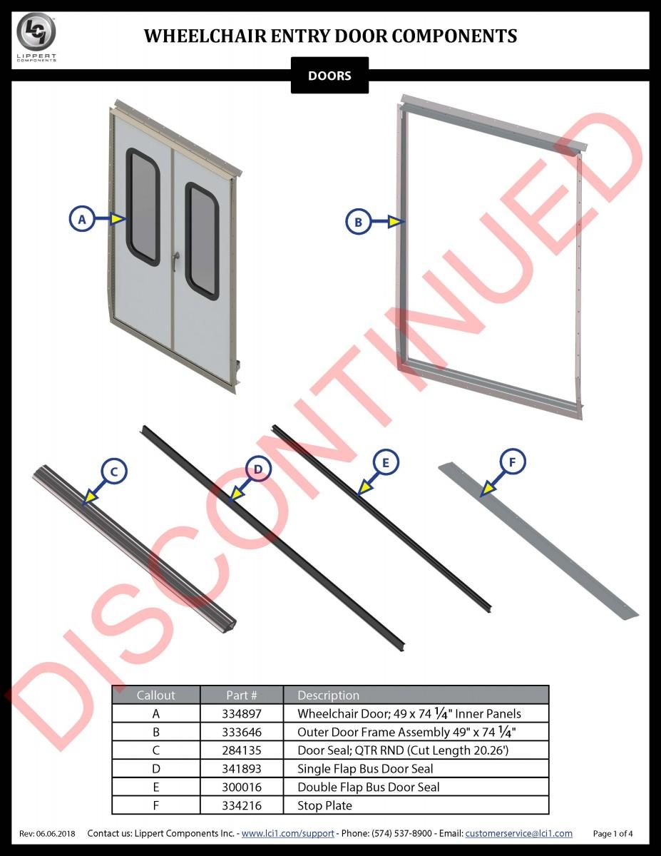 Wheelchair Entry Door Components