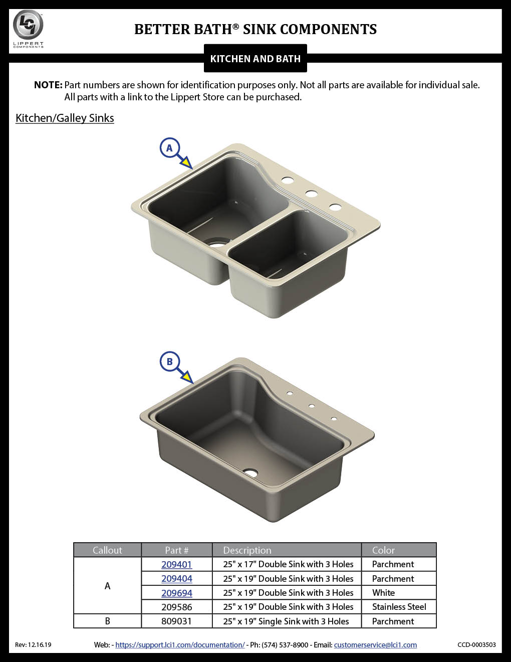 Better Bath Sink Components
