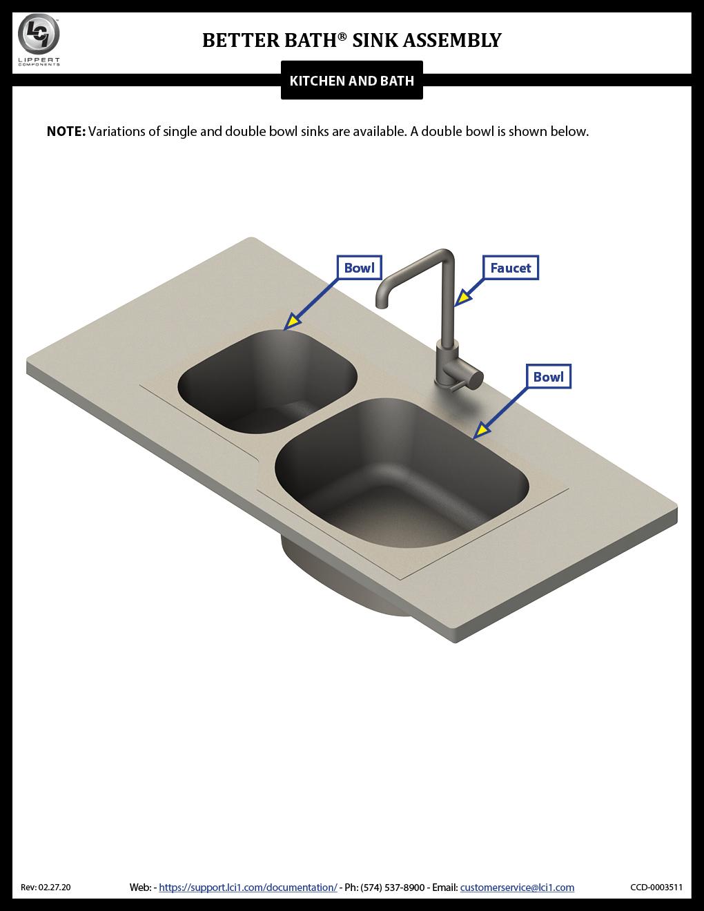 Better Bath® Sink Assembly