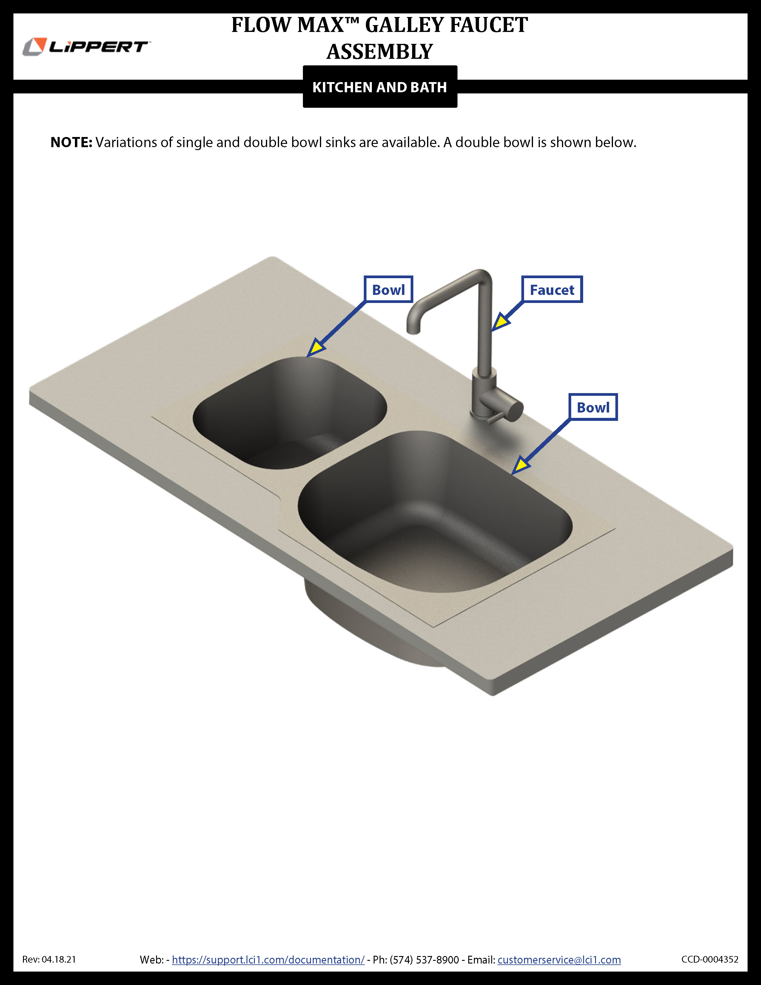 Flow Max® Galley Faucet Assembly