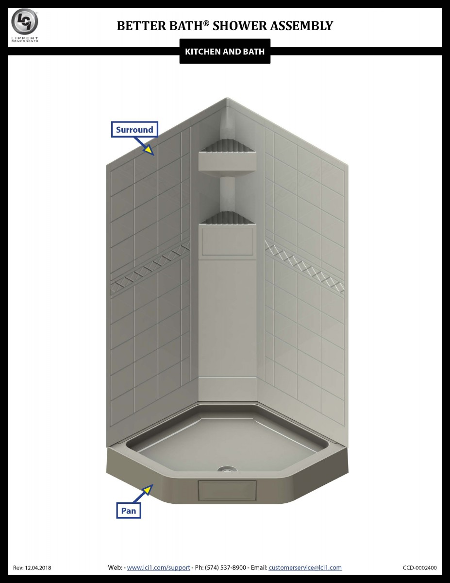 Better Bath® Shower Assembly