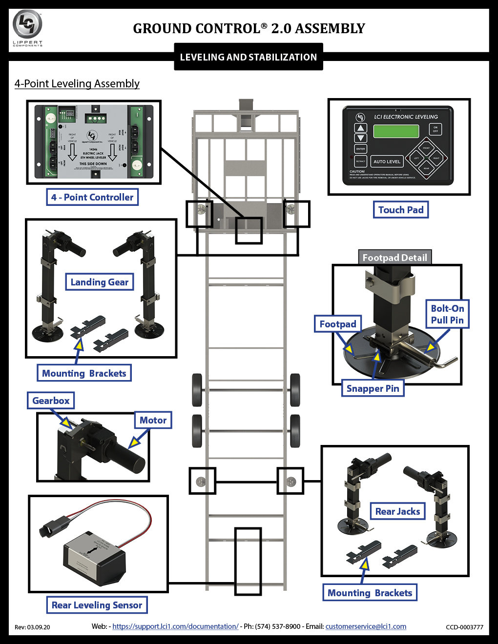 Ground Control® 2.0 (4-Point and 6-Point) Assembly