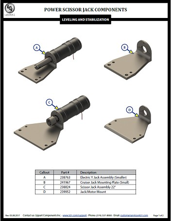 Power Scissor Jacks Components