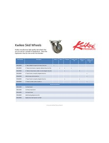 Kwikee® Skid Wheels Application Guide