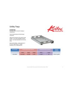 Utility Trays Application Guide