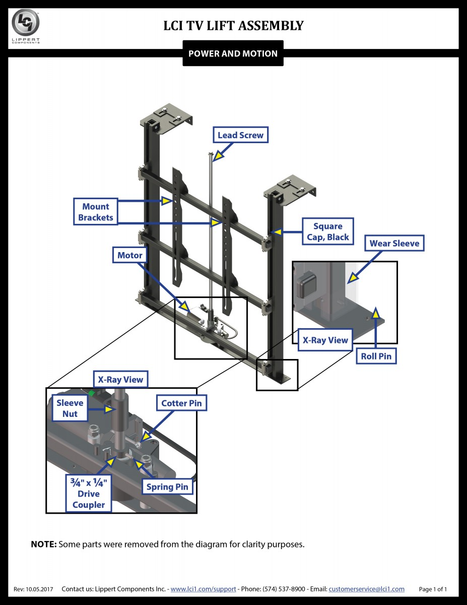 LCI® TV Lift Assembly