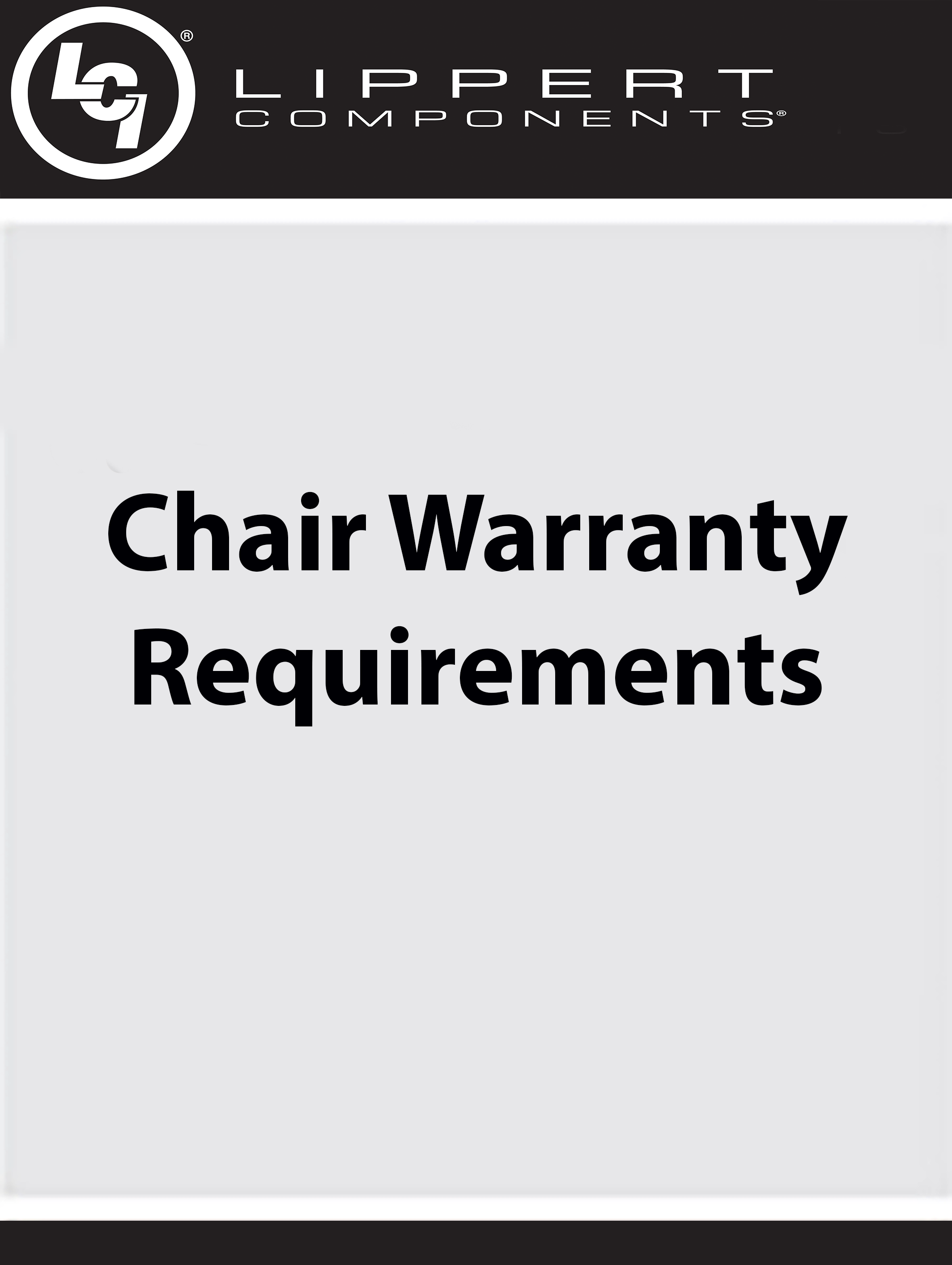 Chair Warranty Requirements
