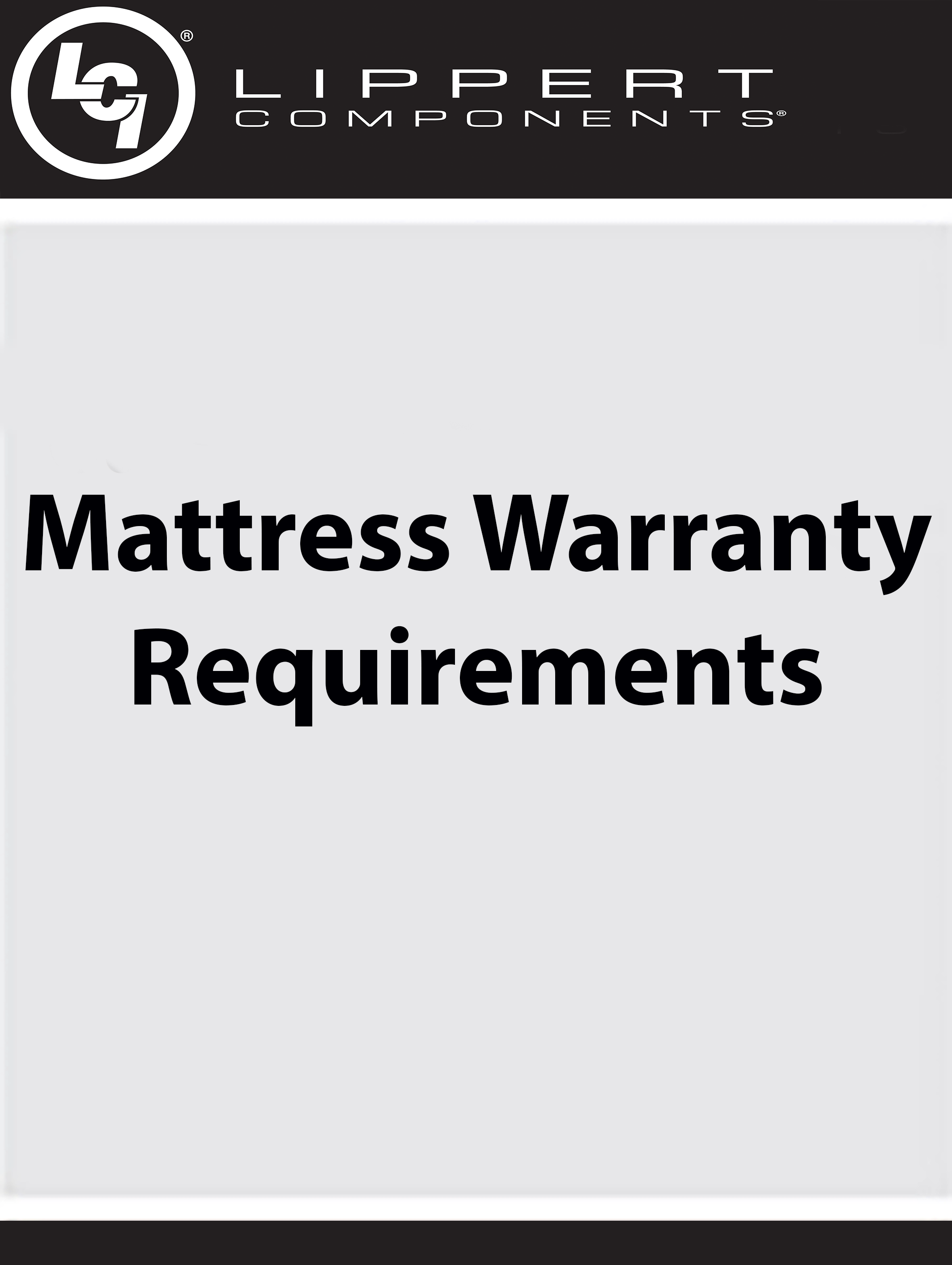 Mattress  Warranty Requirements