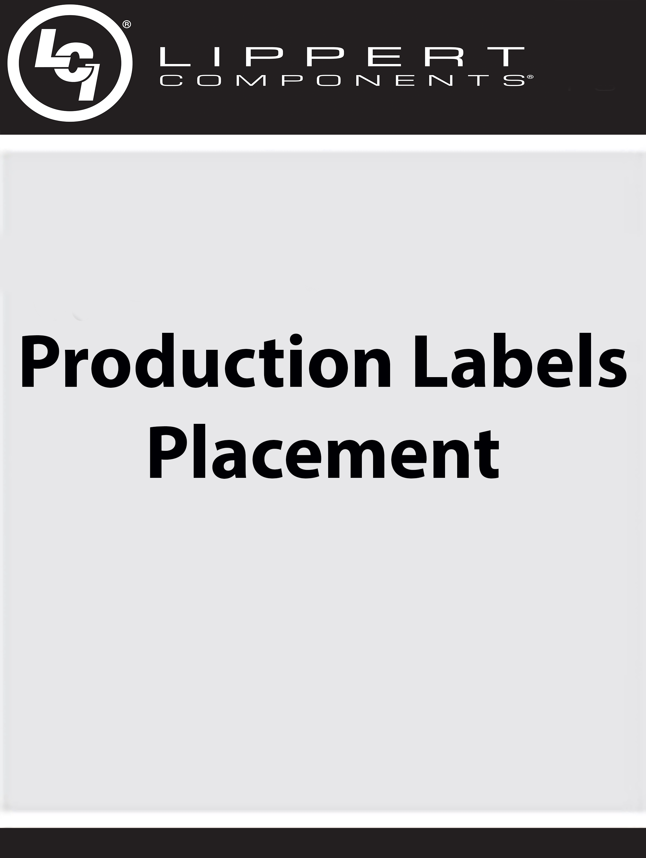 Production Labels Placement
