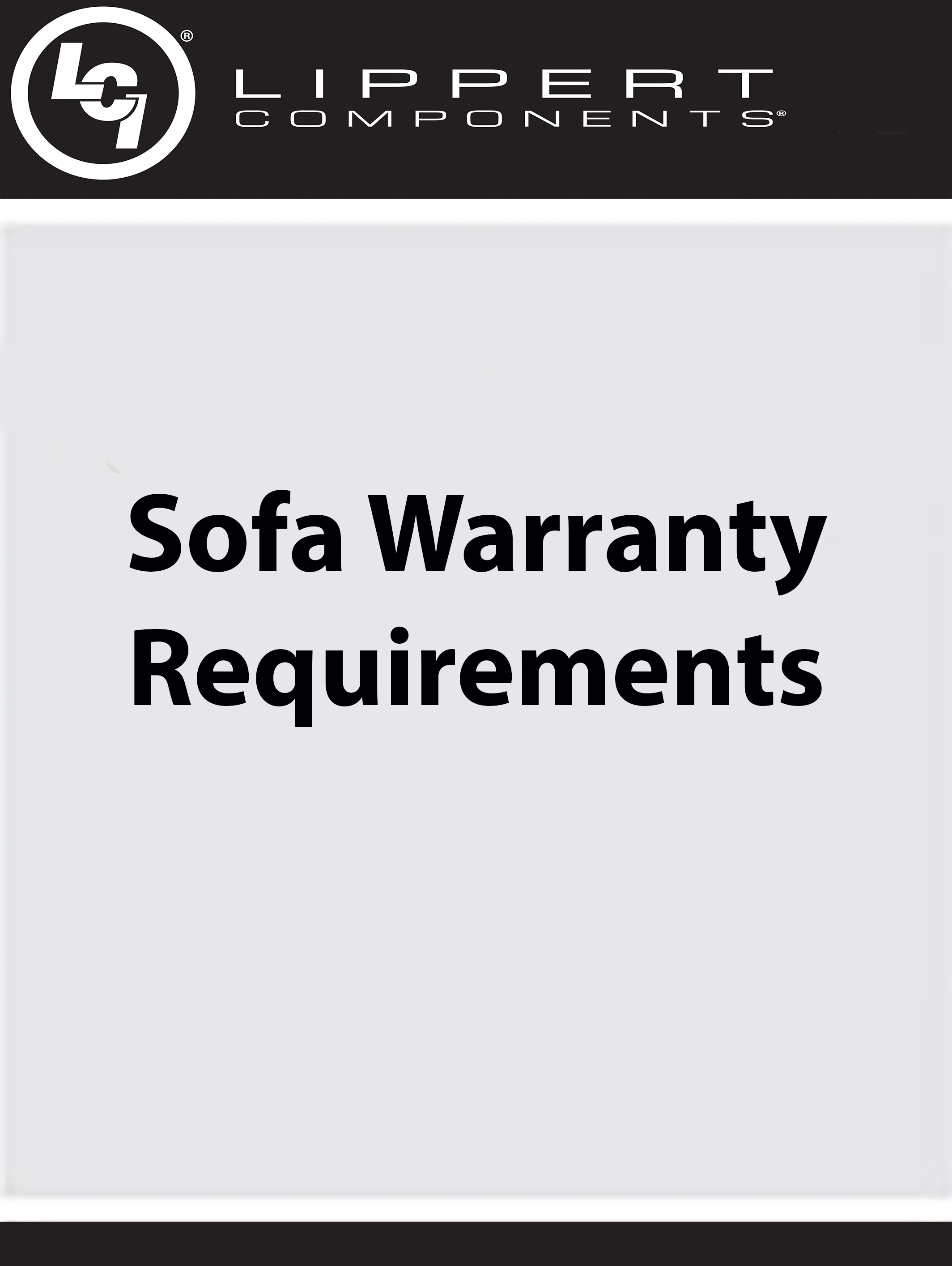 Sofa Warranty Requirements