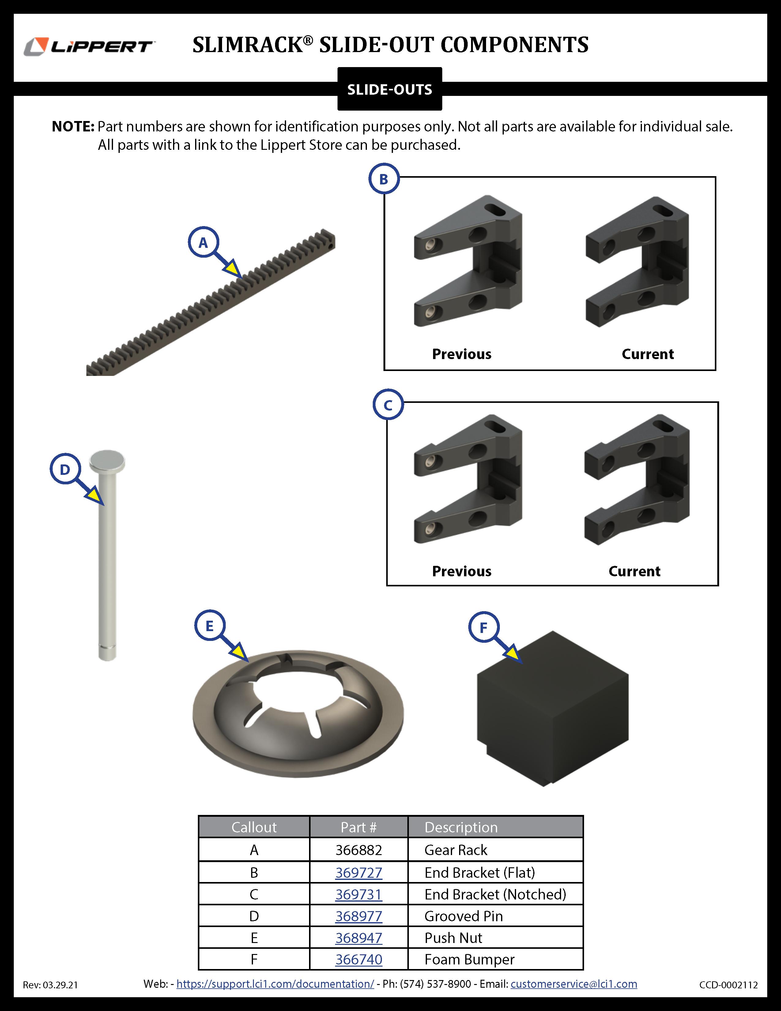 SlimRack® Slide-Out Components