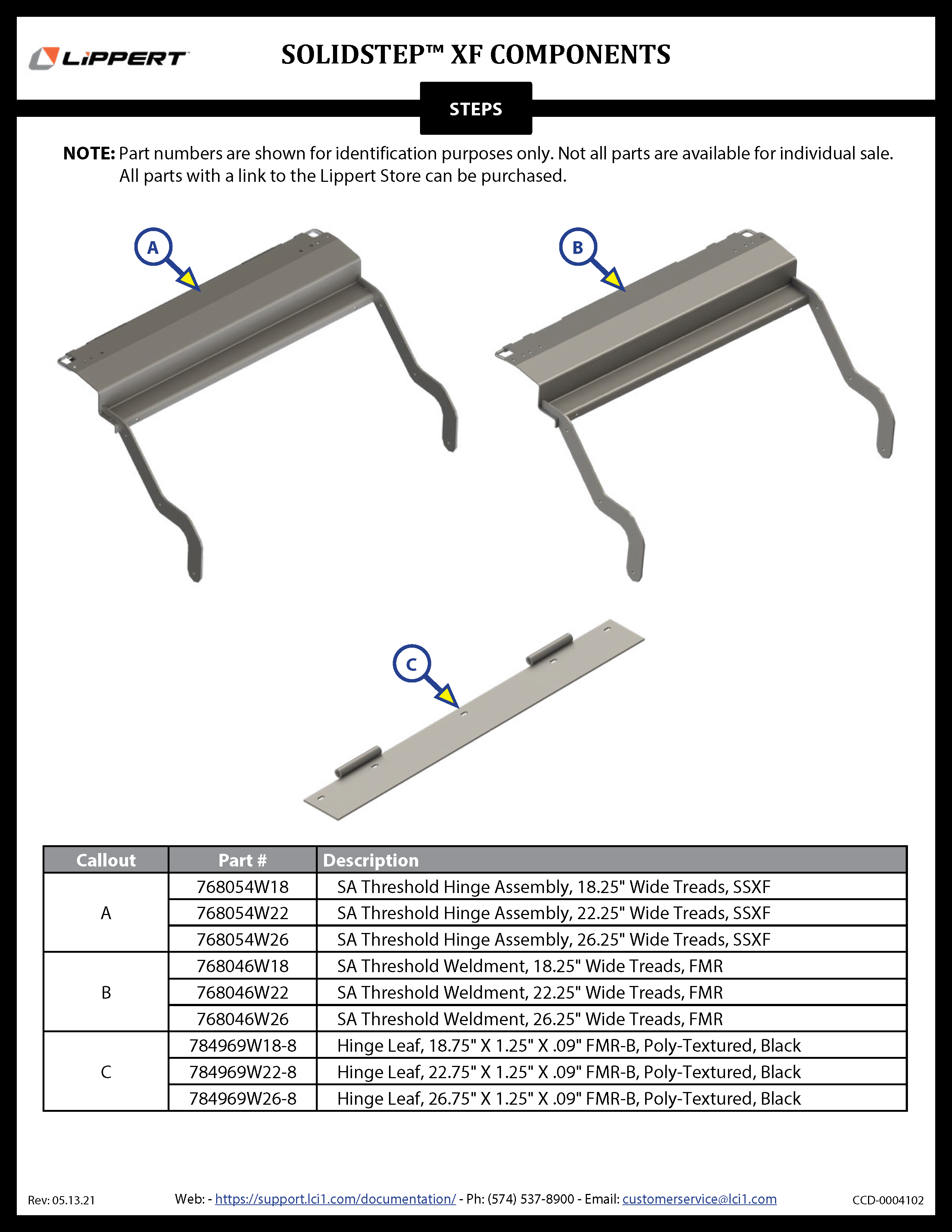 SolidStep™ XF Components
