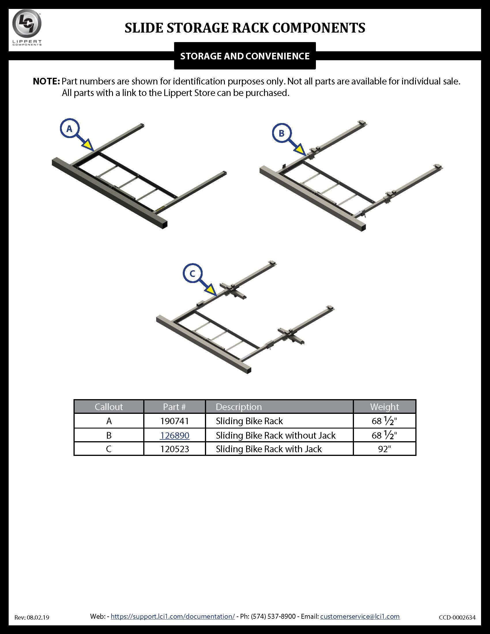 Slide Storage Racks Components