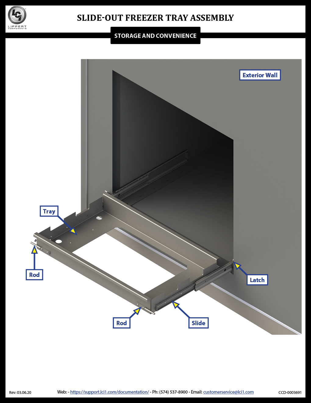 Slide-out Freezer Tray Assembly