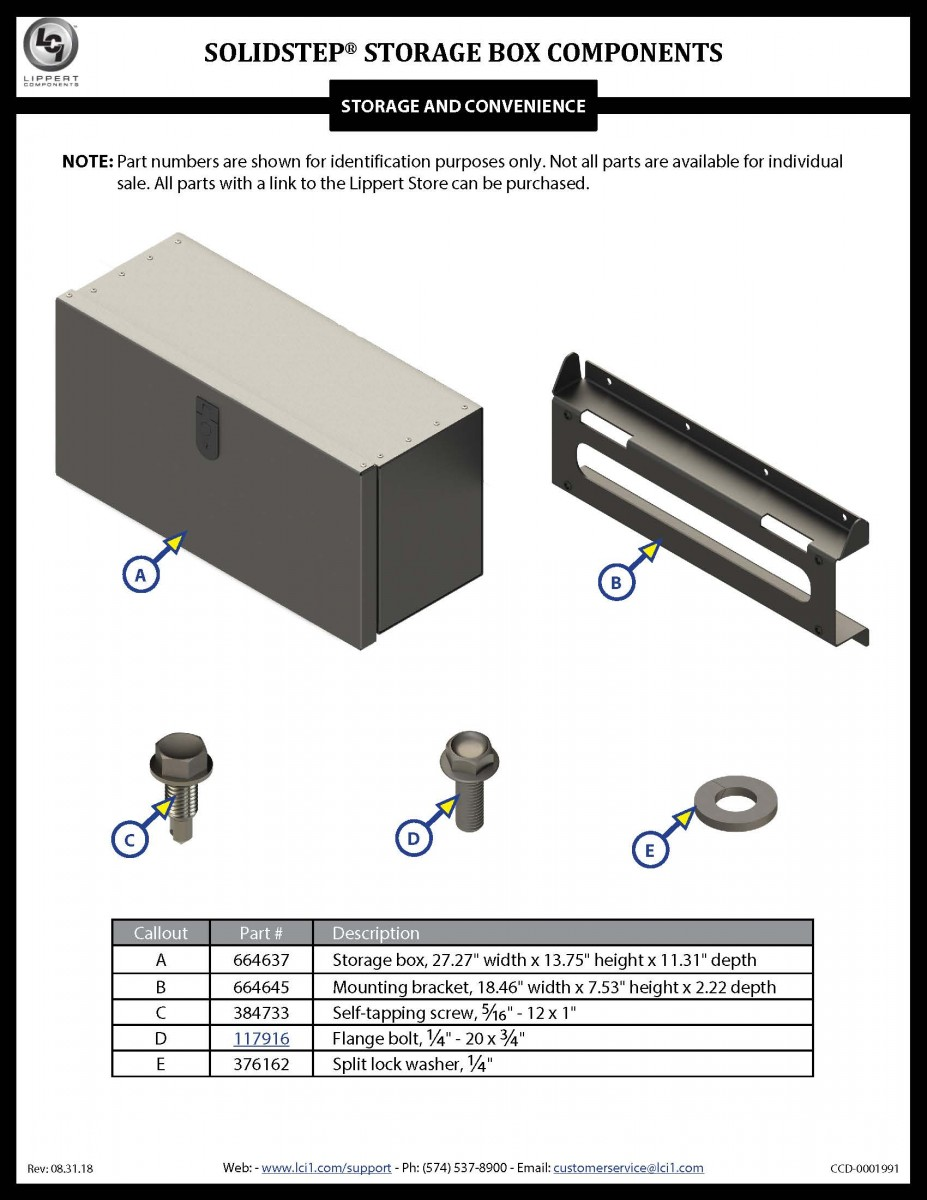 SolidStep® Storage Box Components
