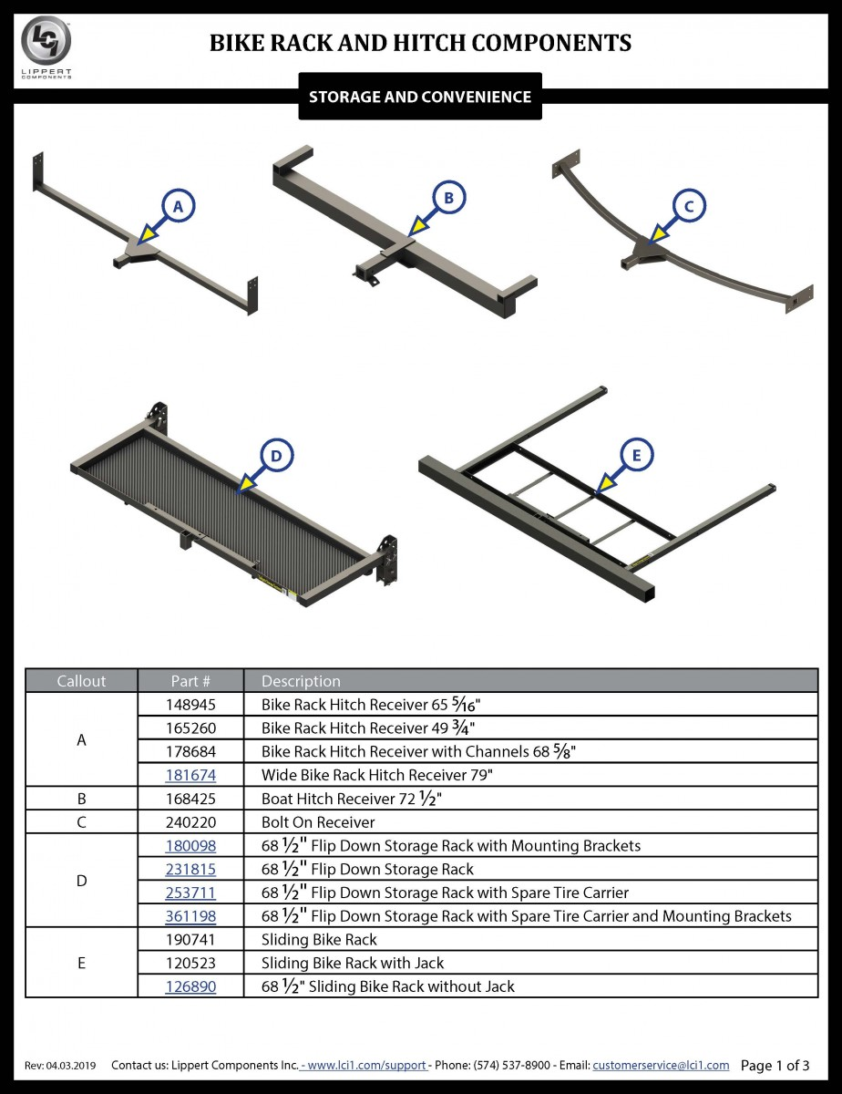 Bike Rack and Hitch Components