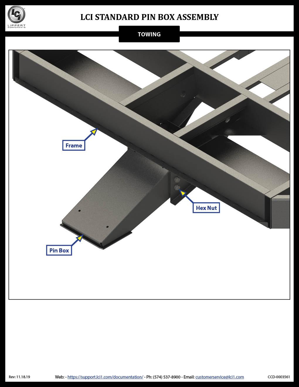 Standard Pin Box Assembly
