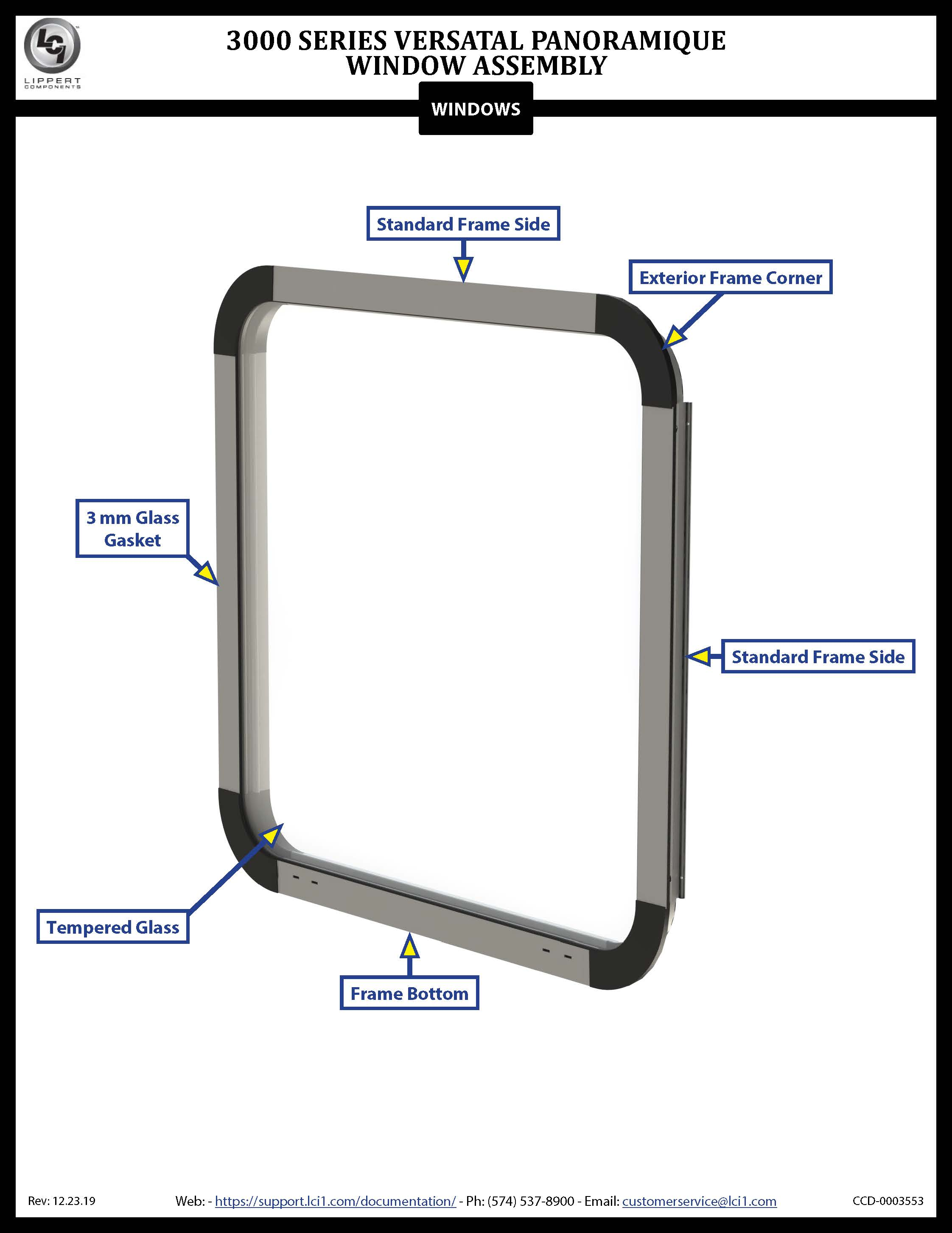 3000 Series Versatal Panoramique Window Assembly