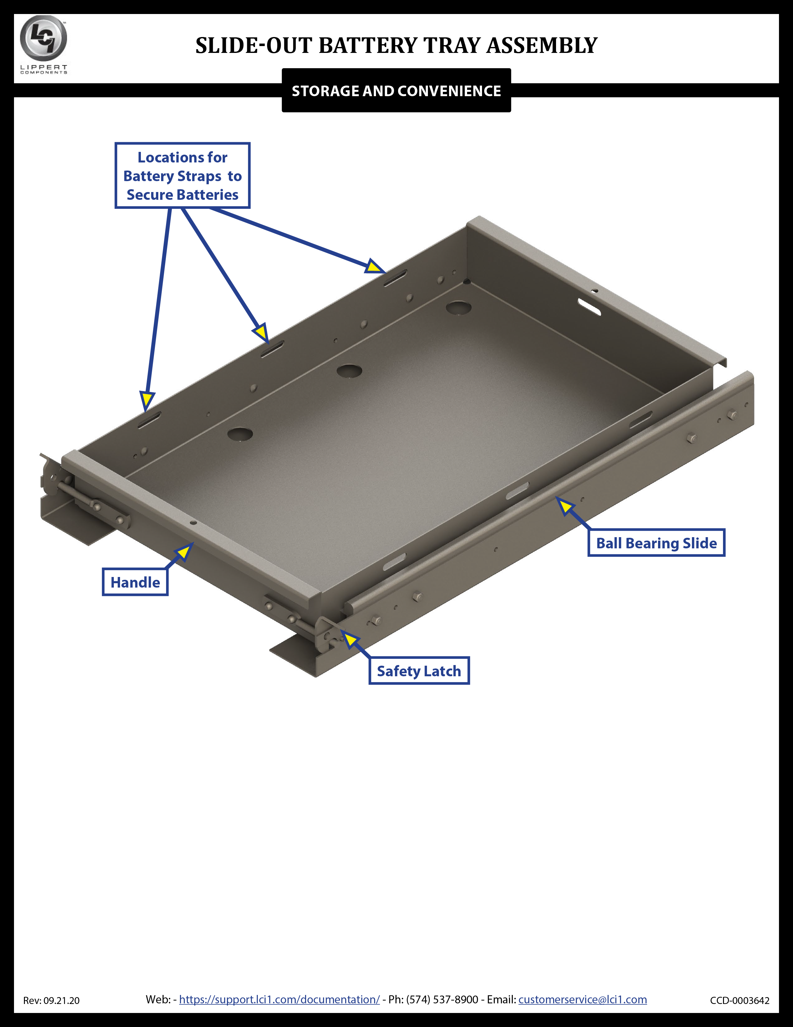 Slide-out Battery Tray Assembly