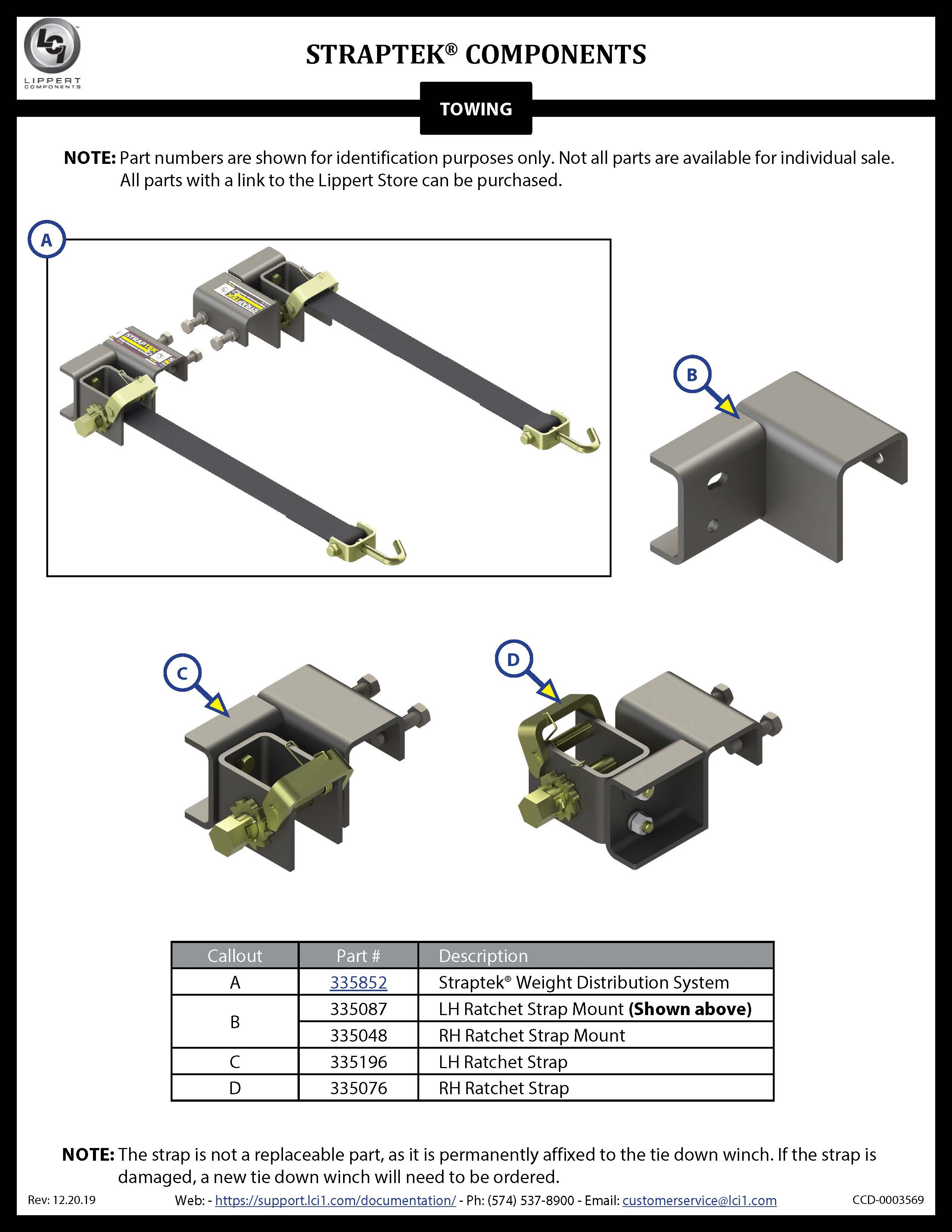 Straptek® Components
