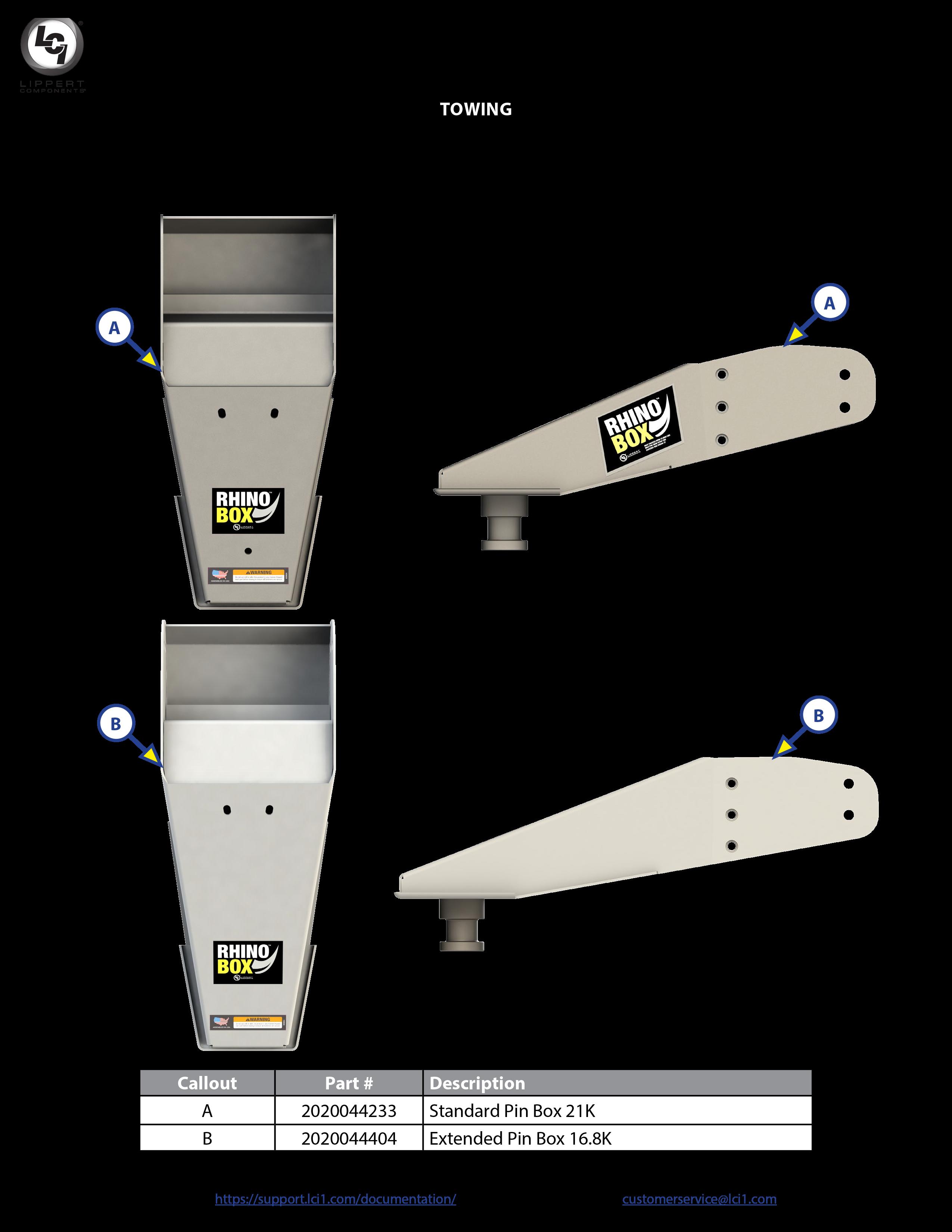 Rhino Box™ Pin Box Components